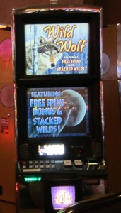 Wolf-themed slot machine